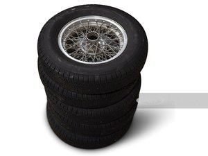 Ferrari 225 S 15-in. Wire Wheels with Pirelli Tires