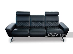 Stressless Black Leather Couch