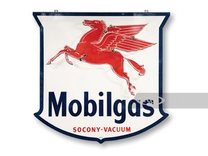 Mobilgas Socony-Vacuum Single-Sided Neon Sign