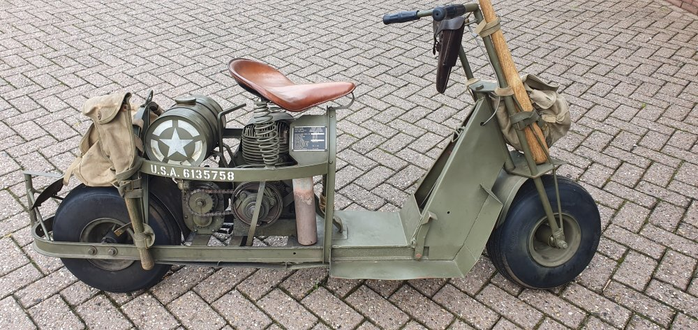 1944 Cushman, Airborne scooter, Cushman typ 53, Cushman scooter For Sale (picture 1 of 6)