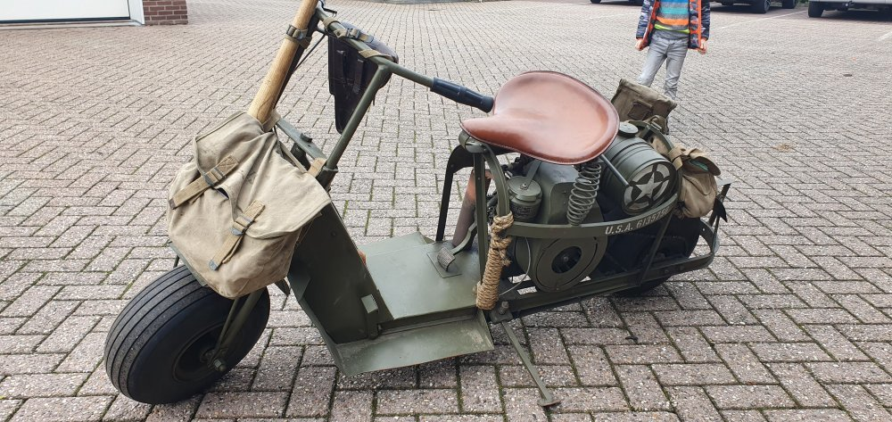 1944 Cushman, Airborne scooter, Cushman typ 53, Cushman scooter For Sale (picture 3 of 6)