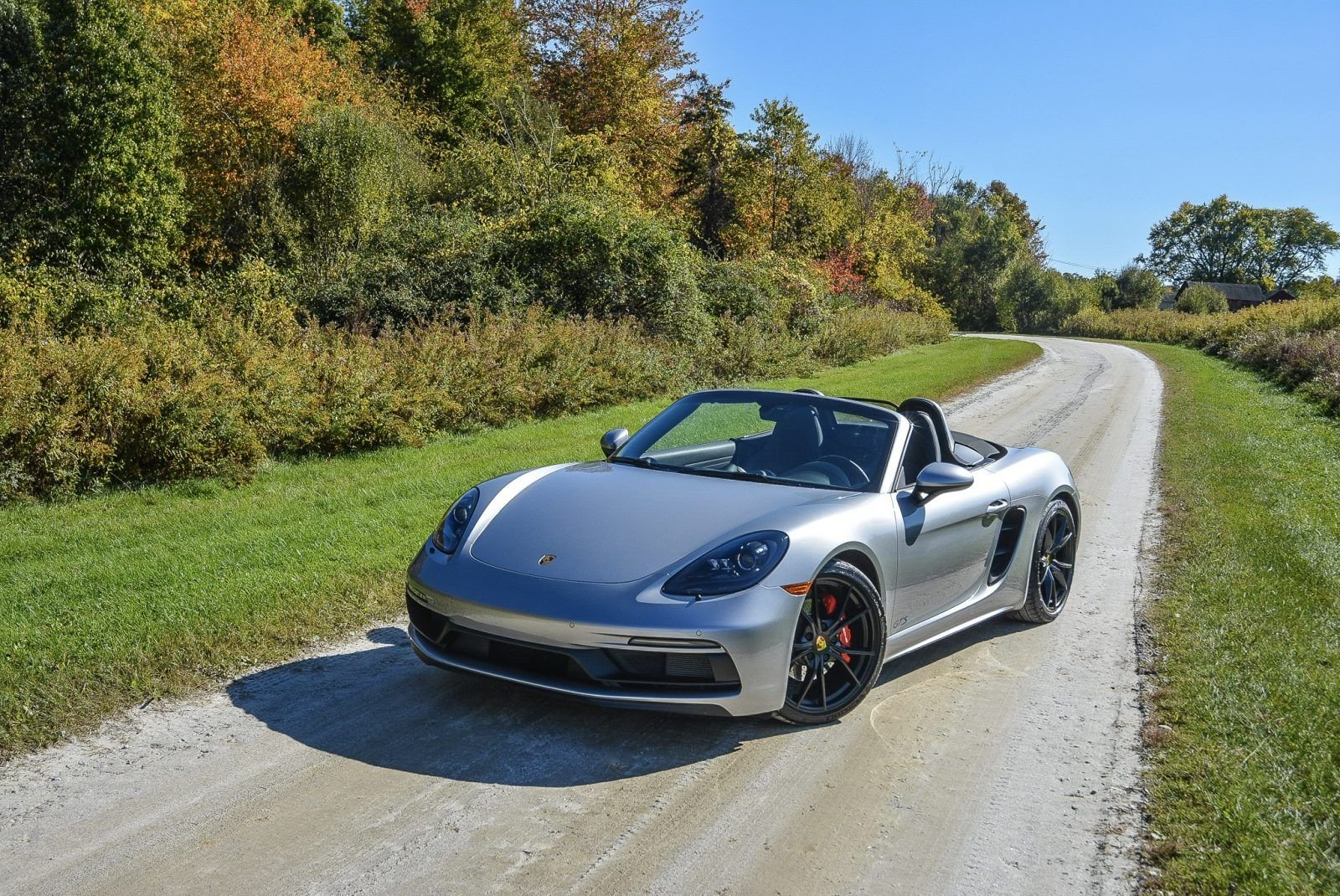 2019 Porsche 718 Boxster GTS - Manual 9.9k miles Silver $ For Sale (picture 1 of 6)