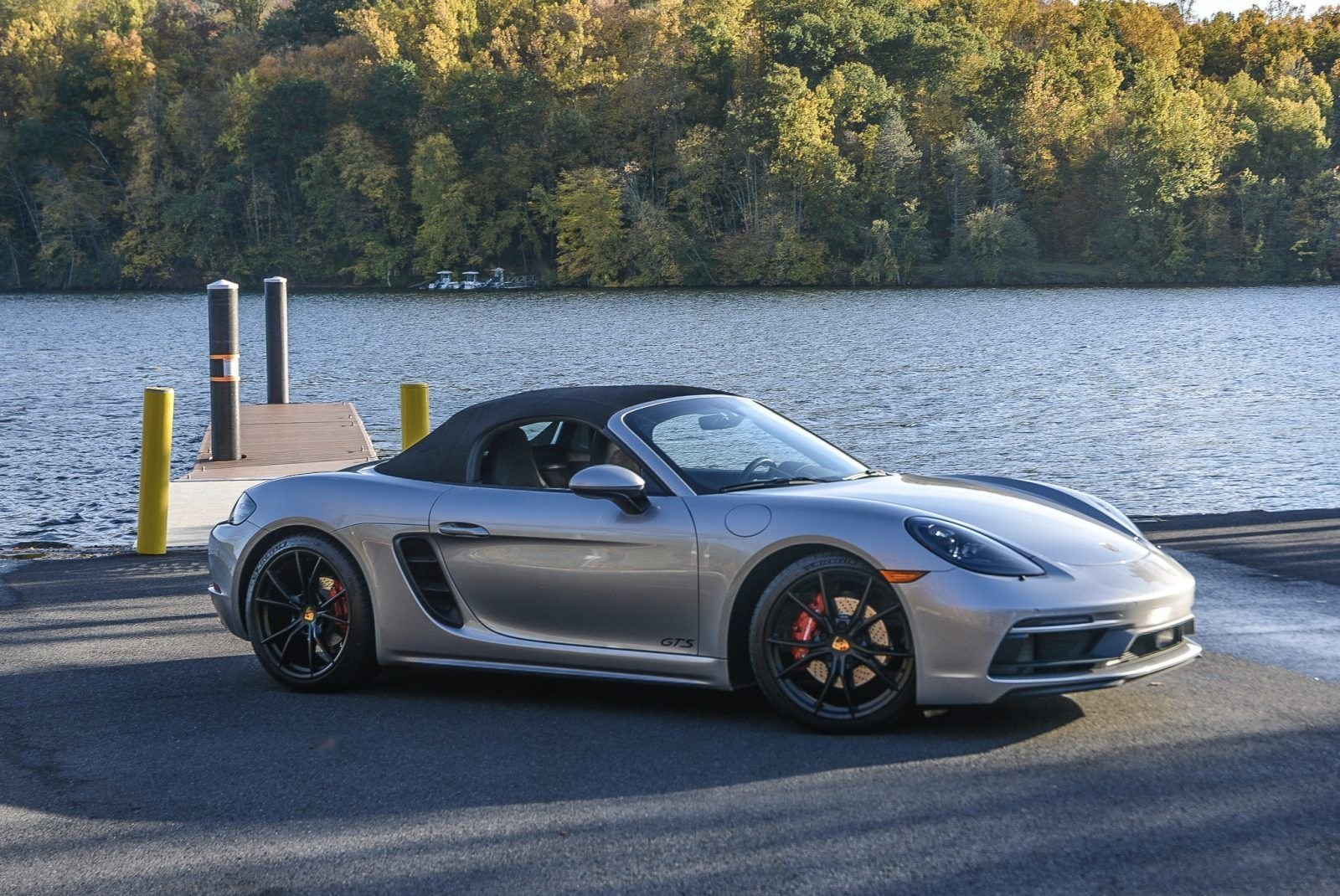 2019 Porsche 718 Boxster GTS - Manual 9.9k miles Silver $ For Sale (picture 2 of 6)