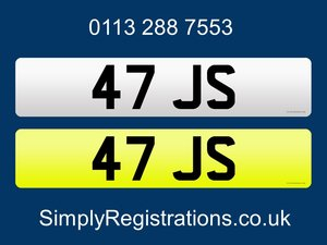 47 JS - Private number plate