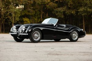 Picture of 1954 Jaguar XK120 SE OTS Roadster Convertible Black $112.5k For Sale