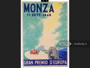 Monza, Gran Premio dEuropa, Window Card, 1949