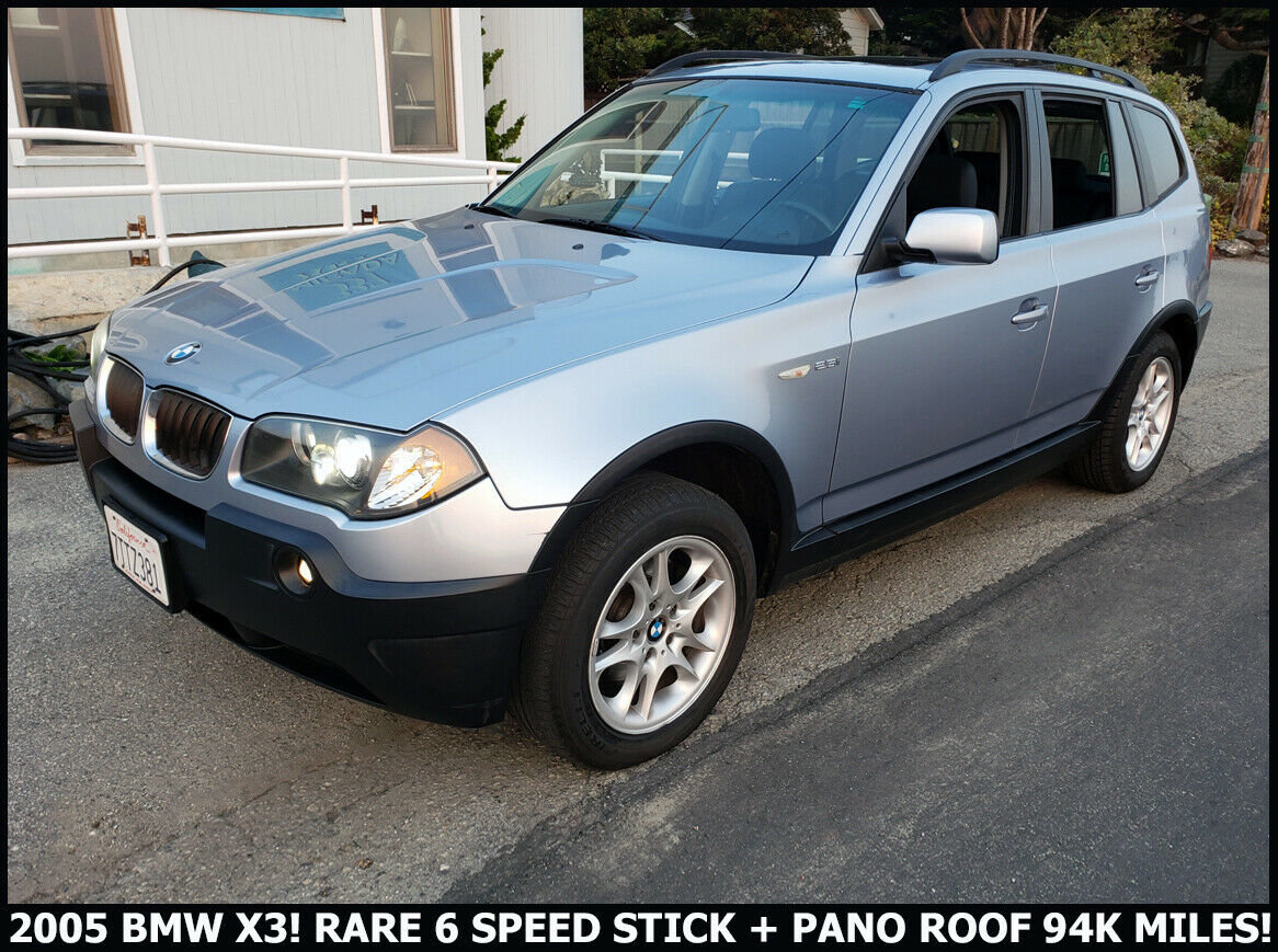 2005 BMW X3 SUV AWD  Rare 6 speed Manual Silver $obo For Sale (picture 1 of 6)