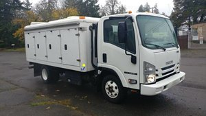 Picture of 2017 Isuzu NPR diesel = Refrigerator 12 foot Box + Auto + AC For Sale