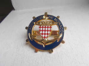 Yacht Club De Monaco enamel on brass with fixings 1980