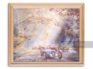 """Picture of """"Through The Light"""" Oil Painting by Alfredo de la Mara, 1994 For Sale by Auction"""