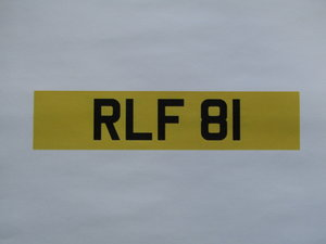 Picture of 1900 Registration Number RLF 81 at ACA 13th and 14th February For Sale by Auction