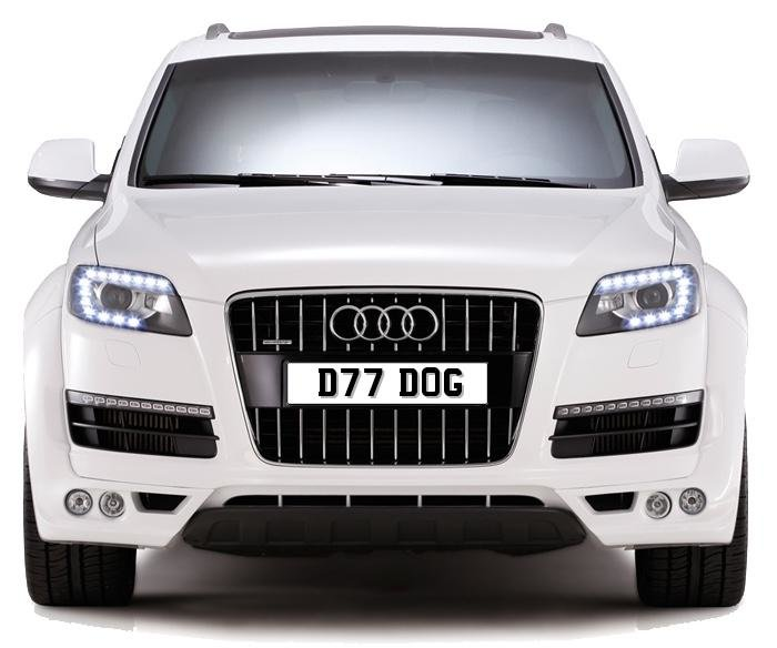 2020 D77 DOG PERSONALISED PRIVATE CHERISHED DVLA NUMBER PLATE FOR For Sale (picture 1 of 5)