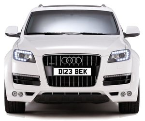 D123 BEK PERSONALISED PRIVATE CHERISHED DVLA NUMBER PLATE FO
