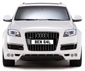 BEN 64L PERSONALISED PRIVATE CHERISHED DVLA NUMBER PLATE FOR