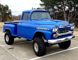 1959 Chevrolet Apache 4x4 Pickup Step~Side AC 350 AT $39.7k