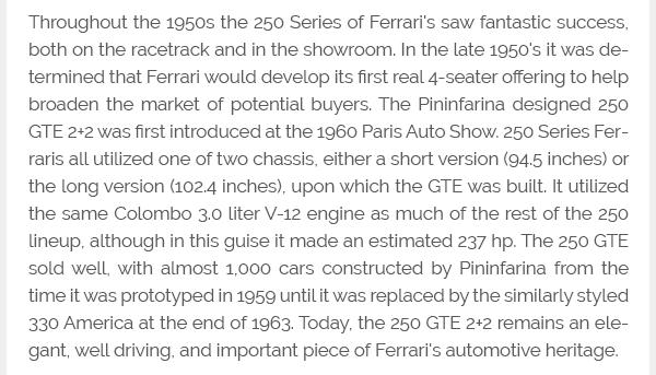1962 Ferrari 250 GT/E 2+2 Coupe Full Restored Red $297.5k For Sale (picture 9 of 11)