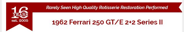 1962 Ferrari 250 GT/E 2+2 Coupe Full Restored Red $297.5k For Sale (picture 11 of 11)