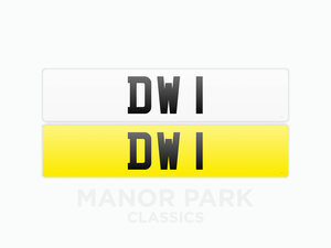 Picture of 2020 Registration Number 'DW 1' For Sale by Auction