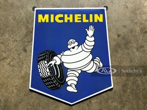 Picture of Michelin Bibendum Porcelain Sign For Sale by Auction