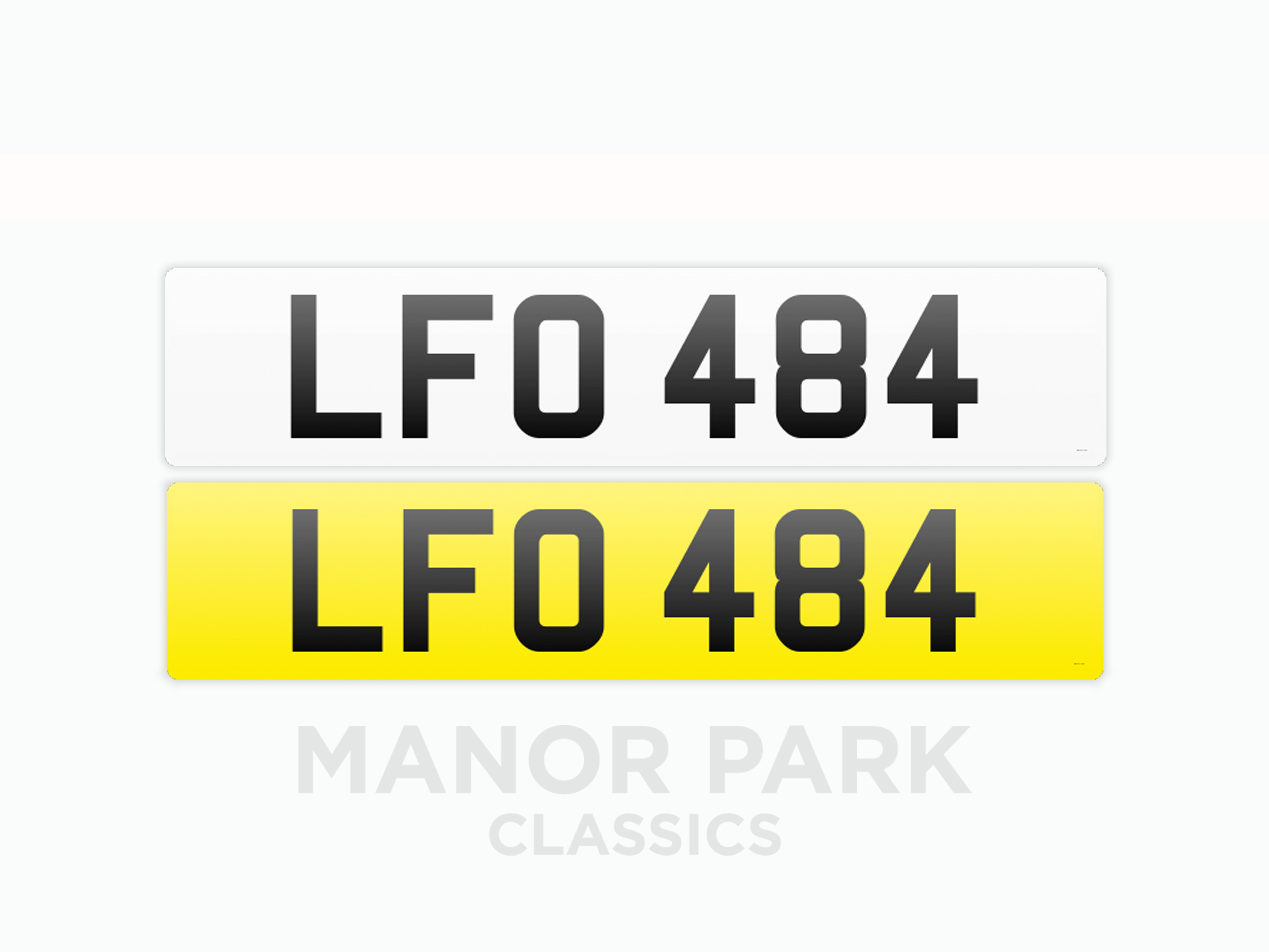 Picture of Registration Number 'LFO 484' For Sale