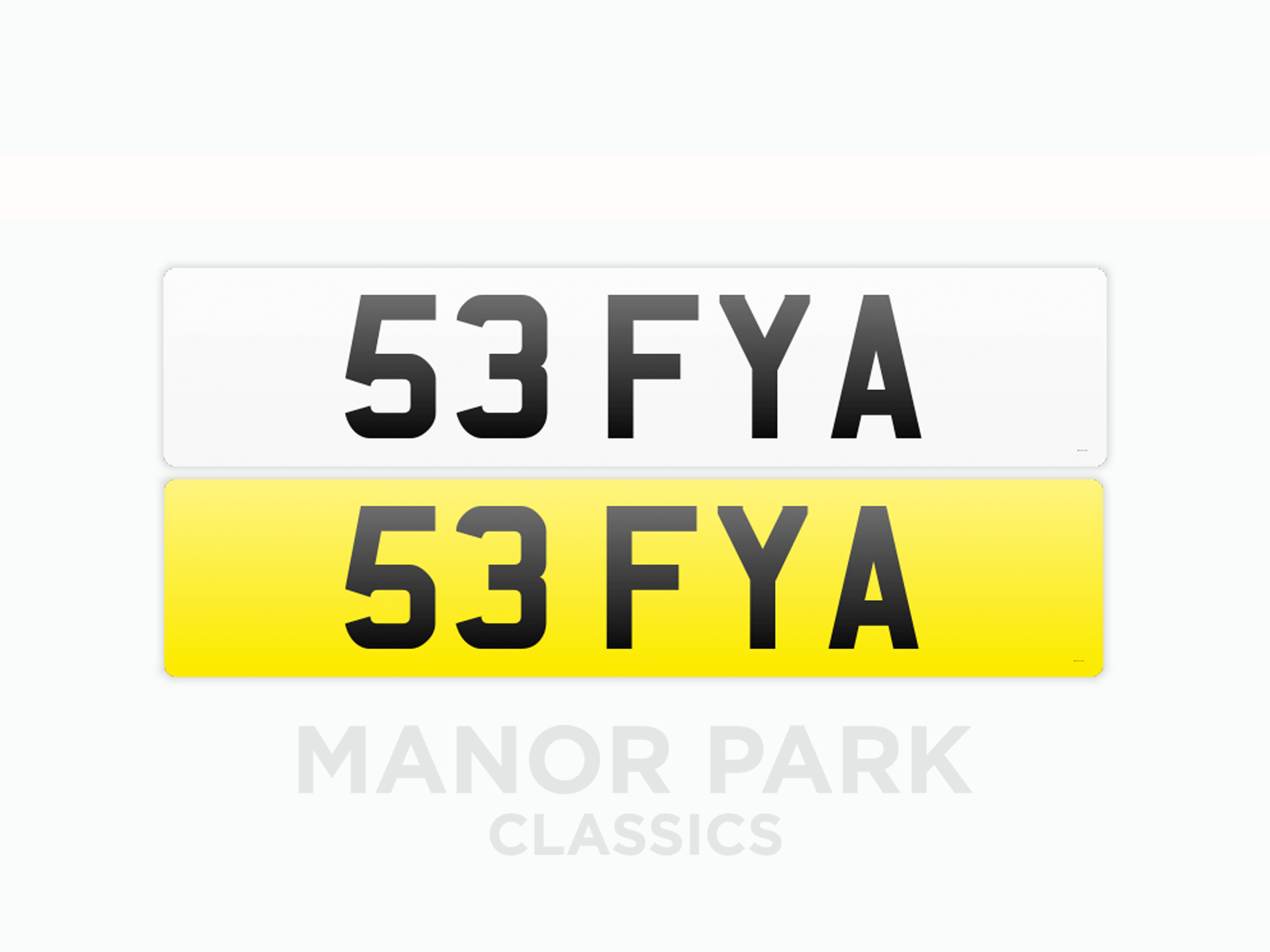 Picture of Registration Number '53 FYA' For Sale by Auction