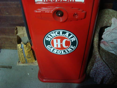 1950 Sinclair Gas Pump For Sale (picture 4 of 6)