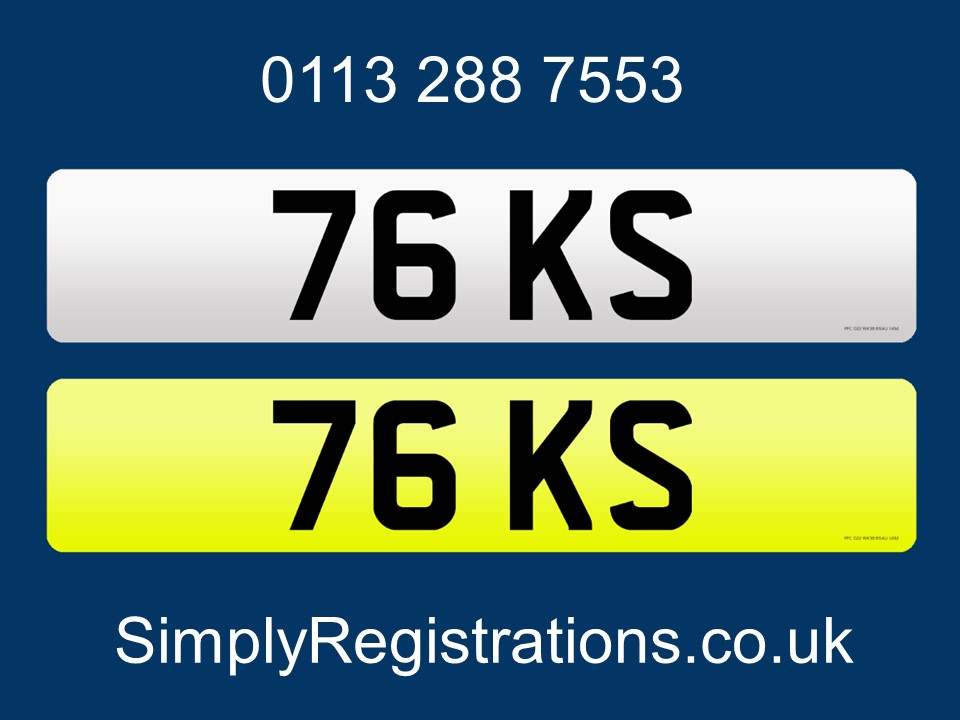 Picture of 76 KS - Private number plate For Sale