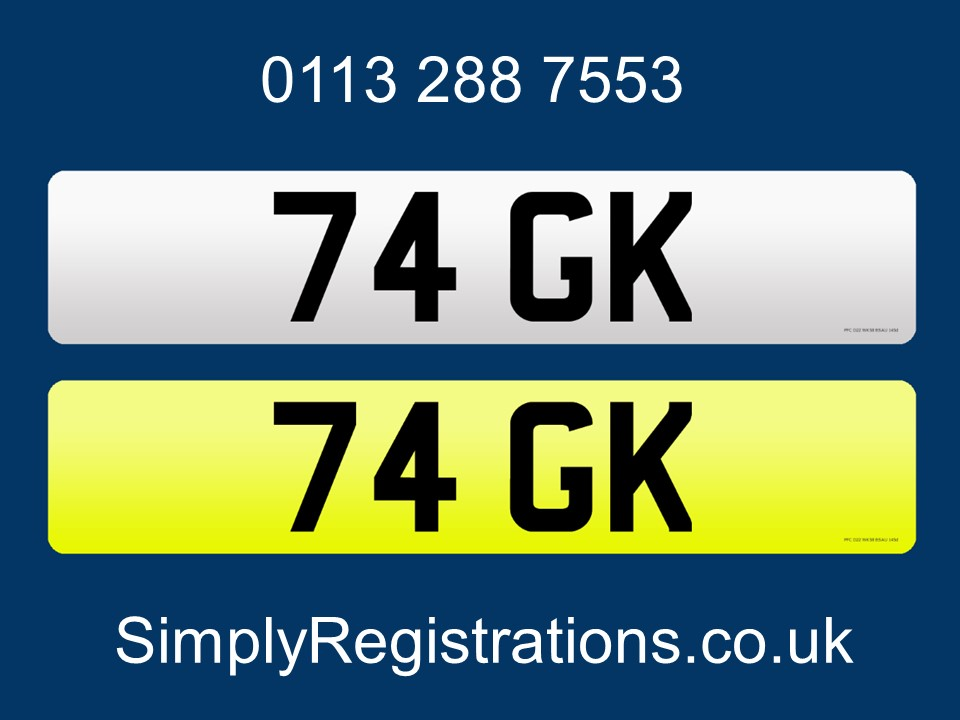Picture of 74 GK - Private number plate For Sale