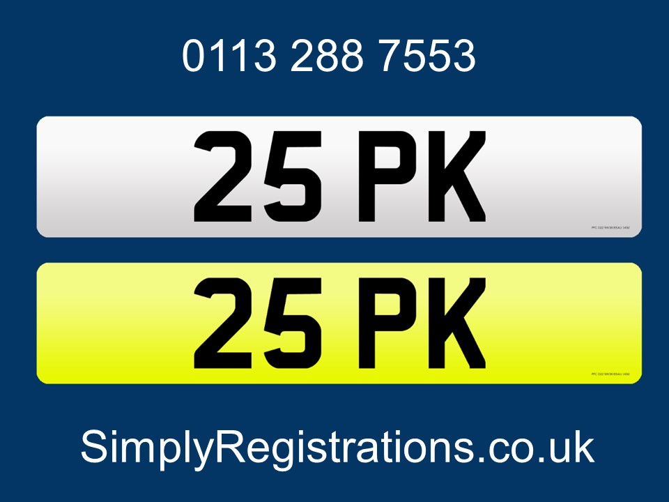 Picture of 2020 25 PK - Private number plate For Sale