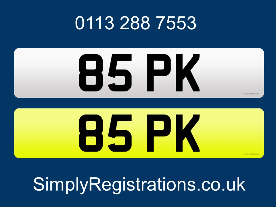 Picture of 85 PK - Private number plate For Sale