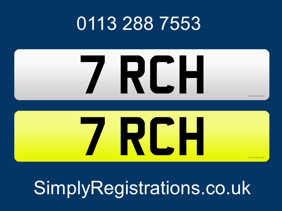 Picture of 7 RCH - Private Number Plate For Sale