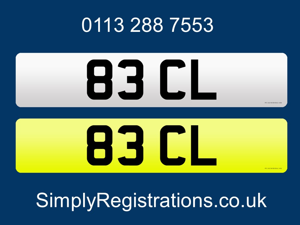 Picture of 83 CL - Private number plate For Sale