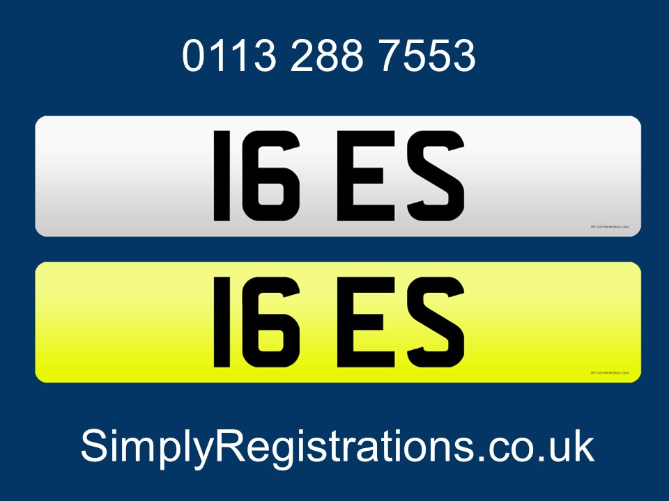 Picture of 2020 16 ES - Private Number Plate For Sale