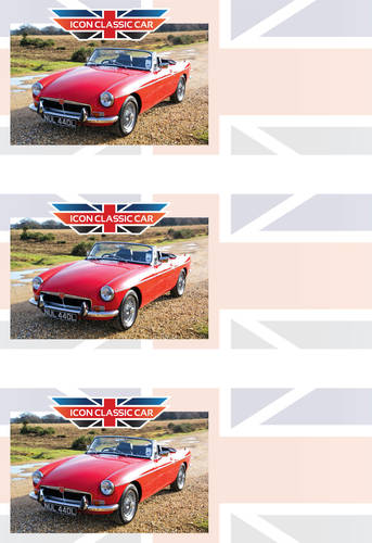 GIFT VOUCHER for MGB, TR6, Mini, Range Rover and more For Hire (picture 1 of 6)