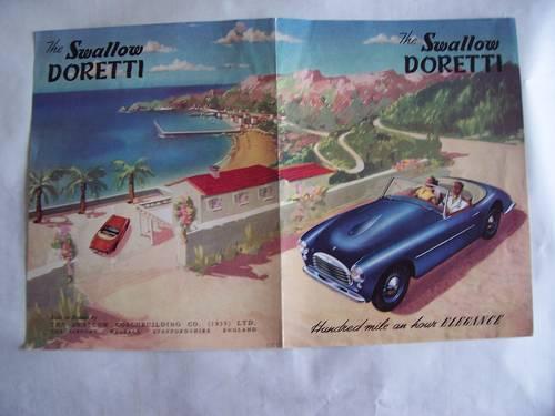 1955 SWALLOW DORETTI COLOUR FOLDING SALES BROCHURE SOLD (picture 1 of 6)