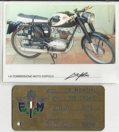 1958 FB Mondial 125 Sport, Rare,                         For Sale (picture 5 of 6)