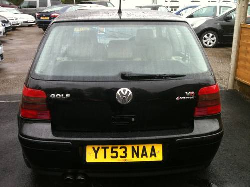 2003 RARE GOLF V6 4 MOTION For Sale (picture 6 of 6)