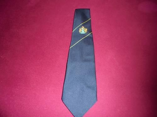 1985 Navy Tie with Crest. For Sale (picture 1 of 2)