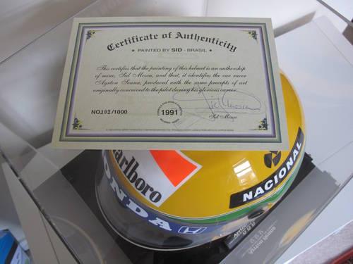 Ayrton Senna Helmet For Sale (picture 2 of 2)