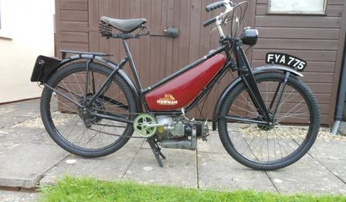 1941 NORMAN AUTOCYCLE 98cc for auction June 17th SOLD by Auction (picture 1 of 3)