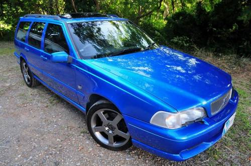 1999 Volvo V70R PH-3 AWD Lazor Blue 75,756 miles from new SOLD (picture 1 of 6)