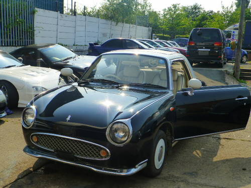 1991 Nissan Figaro Rear Black restoring More 10 Figaros in stock For Sale (picture 1 of 6)