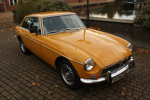 1973 MGB GT - Fully restored, Bronze Yellow, V8 wheels  SOLD (picture 1 of 6)