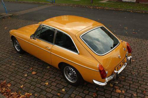 1973 MGB GT - Fully restored, Bronze Yellow, V8 wheels  SOLD (picture 2 of 6)