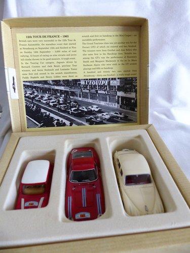 1960 CORGI TOUR DE FRANCE 3 CARS FERRARI, JAGUAR, MINI For Sale (picture 2 of 6)