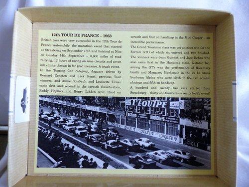 1960 CORGI TOUR DE FRANCE 3 CARS FERRARI, JAGUAR, MINI For Sale (picture 3 of 6)